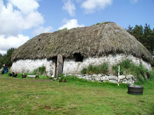 A typical Highland Croft house of the 1700's