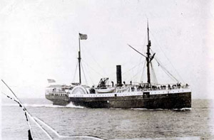 Steamship Ancon in Alaskan waters, circa 1885
