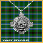 Duncan Crest Celtic Cross Pendant - Click for Larger Image