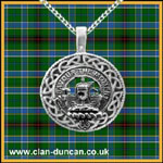 Duncan Crest Celtic Disk Pendant - Click for Larger Image